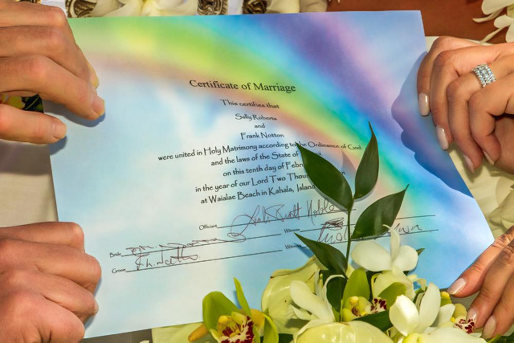 Hawaii Marriage License